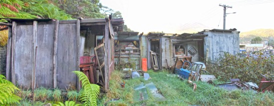 Abandoned Sheds, Sorell Street, Queenstown, Tasmania