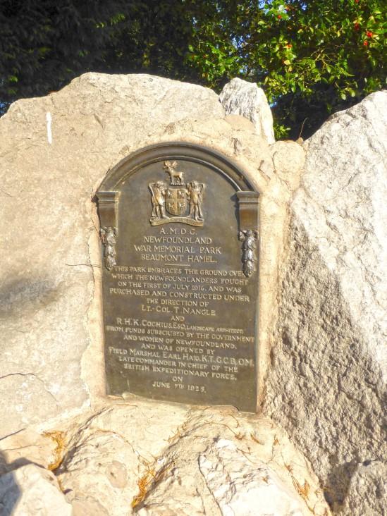 Beaumont-Hamel Newfoundland Memorial, Rue de l'église, Beaumont