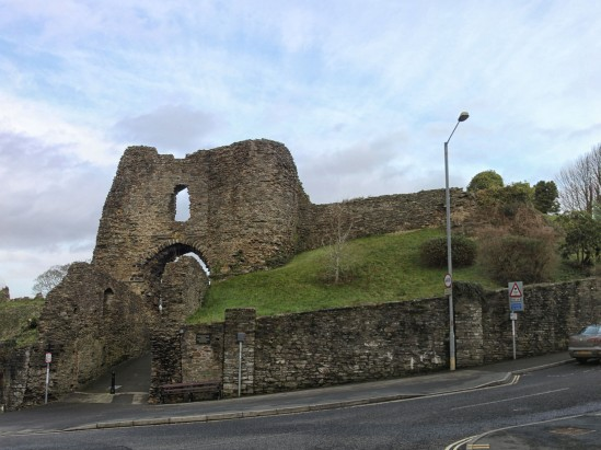 Launceston Castle, Launceston, Cornwall, England, UK