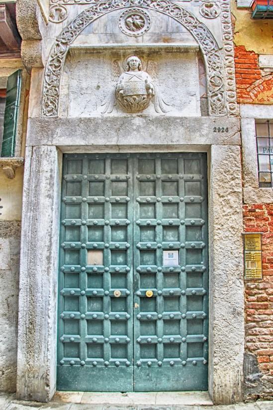 Venetian Doorway, Ponte di Santa Giustina, Castello, Venezia, Ve