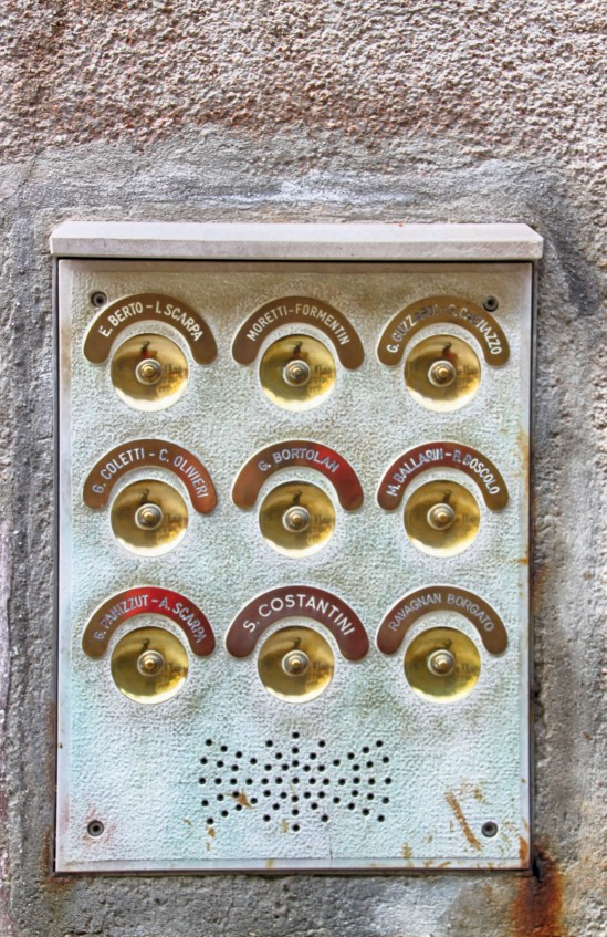 Tenement Doorbell Directory, Palazzo Del Giglio