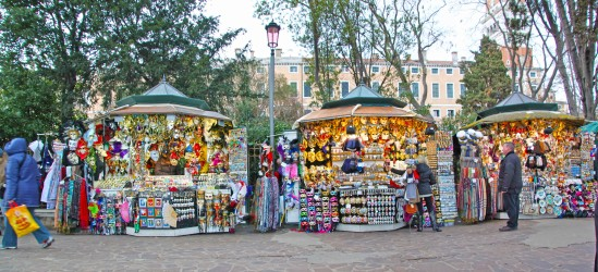 Stalls along Grand Canal