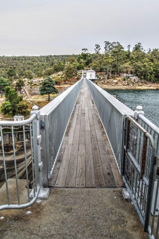 Walkway to Weir Wall, Mundaring Weir, Mundaring, Western Australia