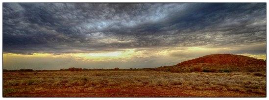 Storm Clouds & Mt Leonora, Tower Street, Gwalia, Leonora, Wester