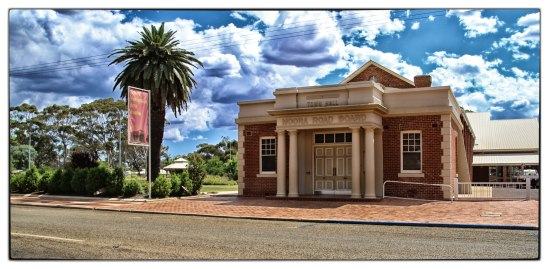 Town Hall-Moora Road Board, Bindoon-Moora Road, Moora, Western A