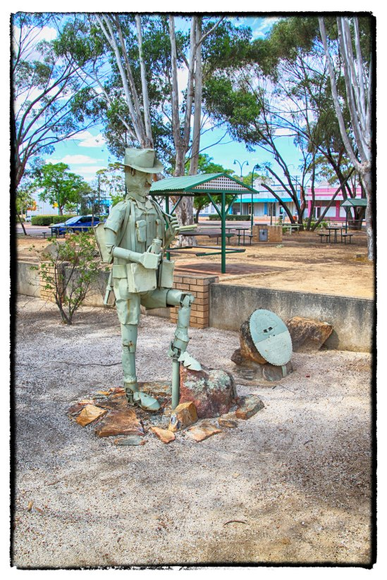 "Old Digger ""SCRAPIRON"", War Memorial Park"